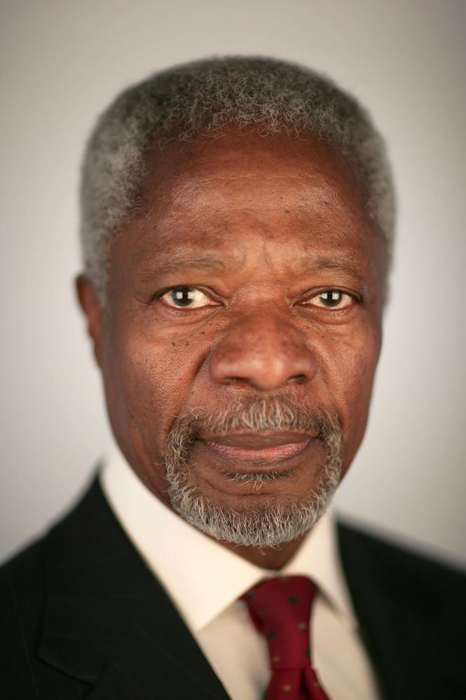 James O Jenkins Portraits KofiAnnan Kofi Annan
