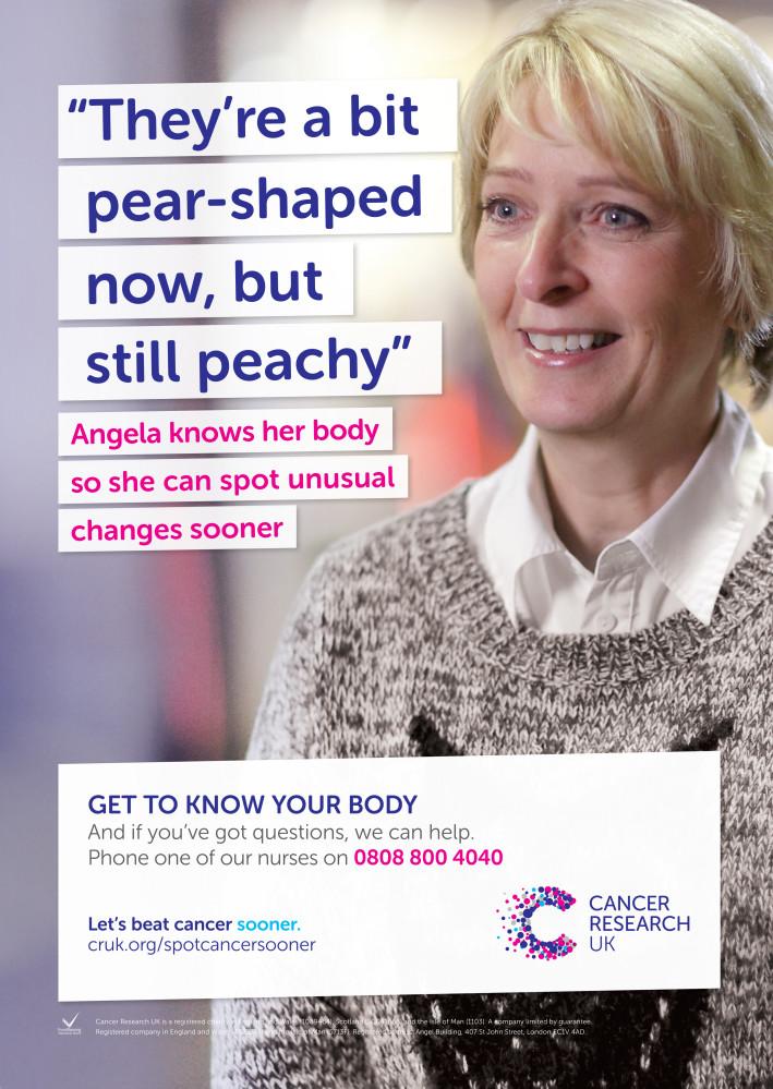 James O Jenkins Work Cuttings Angela-A3 Cancer Research UK